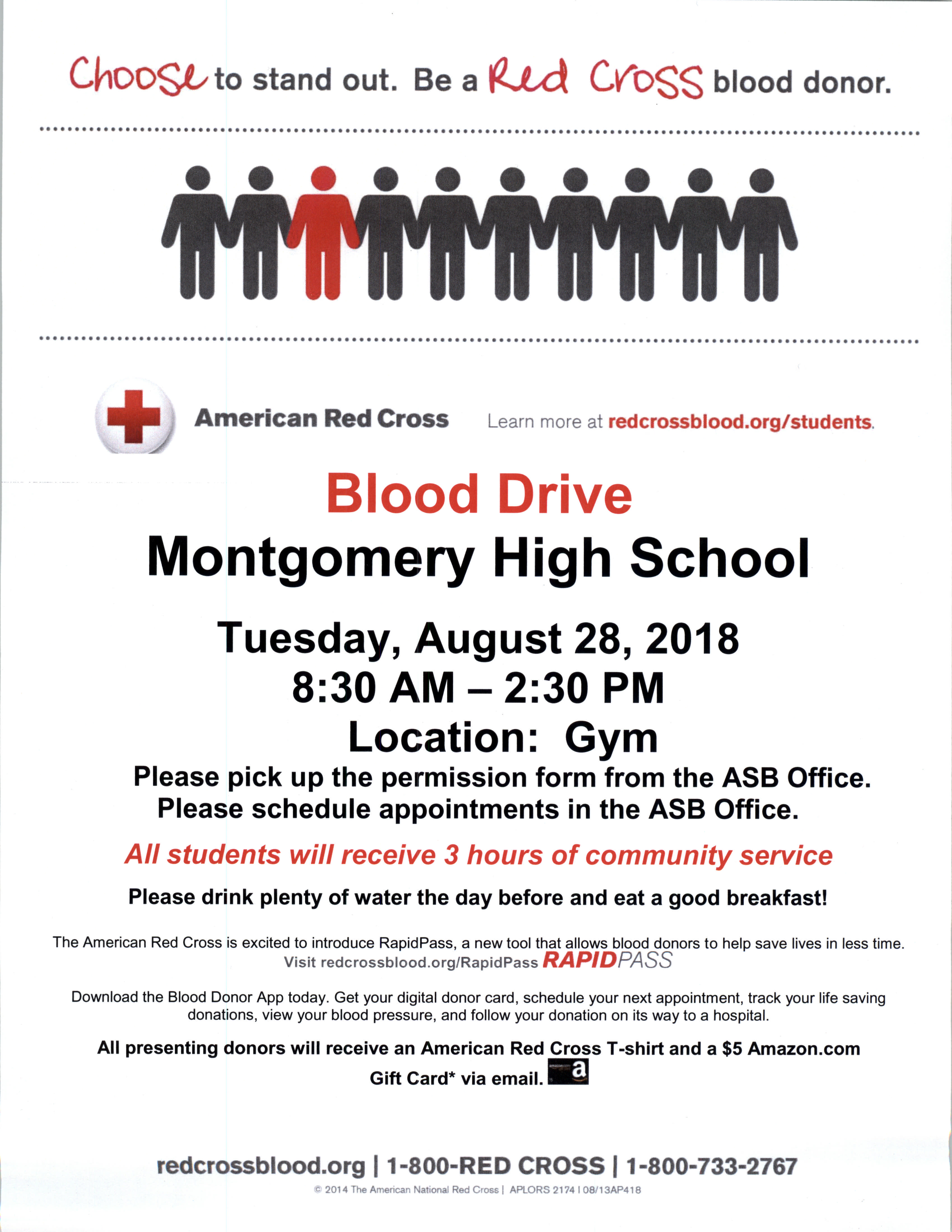 Sign Up for the Blood Drive- Wed , Aug  29th – Montgomery