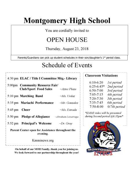 Open House Flyer- 2018