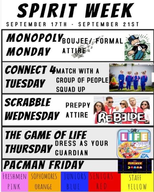 Fall Assembly spirit week